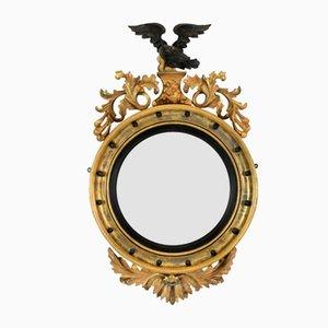 Gewölbter englischer Regency Spiegel, 1840er