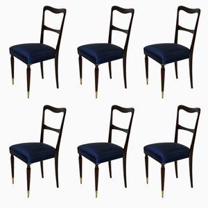 Mid-Century Italian Dining Chairs, 1950s, Set of 6