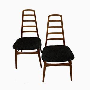 Dänische Vintage Esszimmerstühle, 1960er, 2er Set