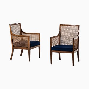 Vintage Bergere Easy Chairs from Lysberg Hansen & Therp, 1930s, Set of 2