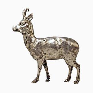 German Silver Chamois Animal Figure from Karl Kurz, 1880s