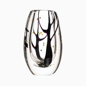 Mid-Century Autumn Glass Vase by Vicke Lindstrand for Kosta