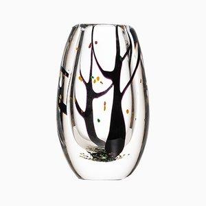 Vase Autumn Mid-Century en Verre par Vicke Lindstrand pour Kosta