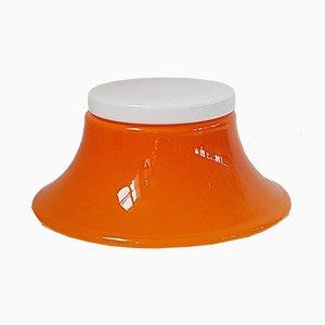 Lámpara era espacial vintage de vidrio, años 70