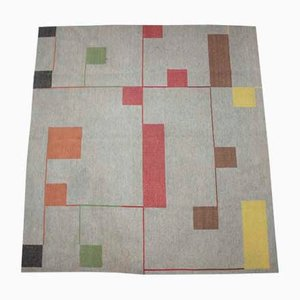 Bauhaus Geometric Carpet, 1940s
