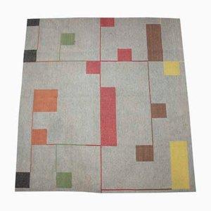 Bauhaus Teppich mit geometrischem Muster, 1940er