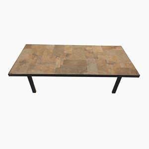 Tavolino brutalista di Pia Manu, anni '70