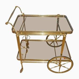 Vintage Brass & Glass Bar Cart, 1970s