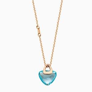 Collana Luck in roccia blu con topazio Healing blu di Rebecca Li