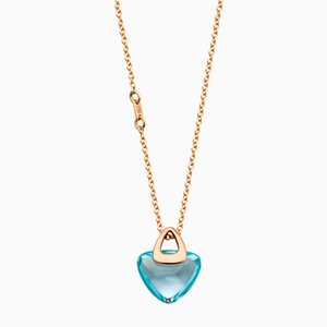Luck Rock Halskette mit blauem Topaz-Stein von Rebecca Li