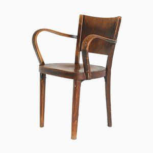 B47 Armlehnstuhl aus Bugholz von Thonet, 1920er