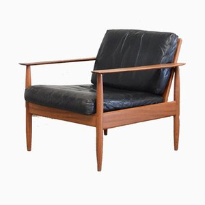 Danish Leather Easy Chair, 1960s