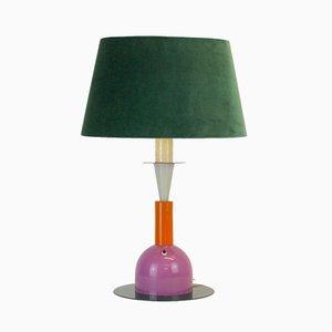 Lámpara vintage con pantalla de terciopelo
