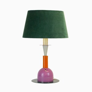 Vintage Lamp with Velvet Shade