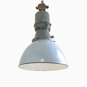 Große industrielle Vintage Deckenlampe von Elko