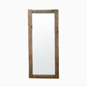 Vintage Oak Framed Mirror, 1960s