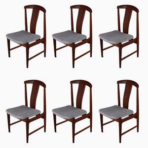 Mid-Century Esszimmerstühle aus Teak von Folke Ohlsson für Dux, 6er Set