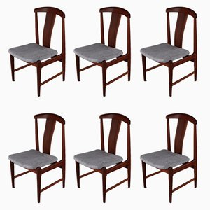 Mid-Century Teak Dining Chairs by Folke Ohlsson for Dux, Set of 6
