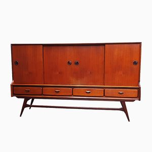 Vintage Highboard by Louis van Teeffelen for WéBé, 1960s
