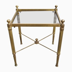 Brass Side Table from Maison Jansen, 1920s