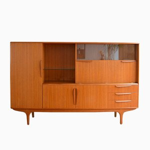 Teak Highboard by Tricoire & Vecchione for Meubles TV, 1960s