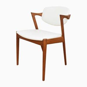 Sedie da pranzo modello 42 Mid-Century di Kai Kristiansen per Schou Andersen, anni '60, set di 4