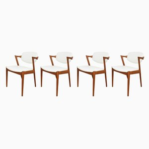 Mid-Century Model 42 Dining Chairs by Kai Kristiansen for Schou Andersen, 1960s, Set of 4