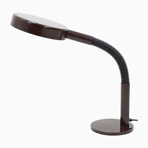 Vintage Dark Brown Desk Lamp from Hala, 1970s