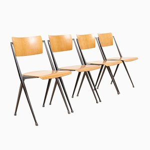 Pyramid Chairs by Wim Rietveld for Ahrend De Cirkel, 1970s, Set of 4