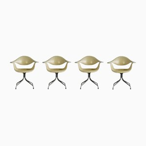 Chaises DAF à Pieds Courbés par George Nelson pour Herman Miller, 1950s, Set de 4