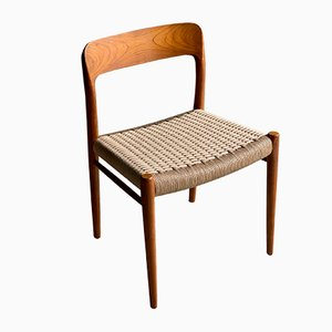Model 75 Dining Chairs by Niels O. Moller for J.L. Møllers, 1950s, Set of 4