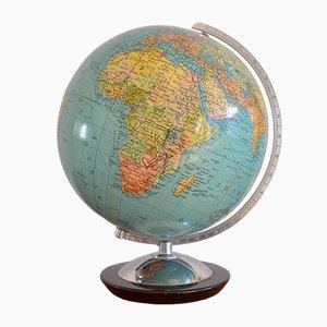 Beleuchteter Globus aus Glas von Columbus Paul Oestergaard, 1950er