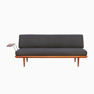 Sofá cama Minerva de teca de Peter Hvidt & Orla Mølgaard-Nielsen para France & Søn, años 60
