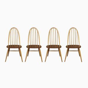 Vintage Dining Chairs from Ercol Windsor, 1950s, Set of 4