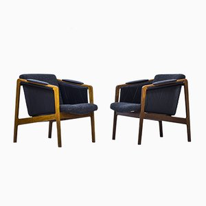 Norwegian Easy Chairs by Bjørn Engø for Møre Lenestolfabrik, 1950s, Set of 2