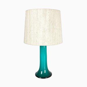 Lámpara de mesa de vidrio de Uno & Östen Kristiansson para Luxus Vittsjö, años 70
