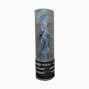 Vintage Schreibtischlampe aus Kristallglas, 1980er