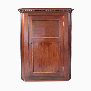 Antique Mahogany Hanging Corner Cupboard