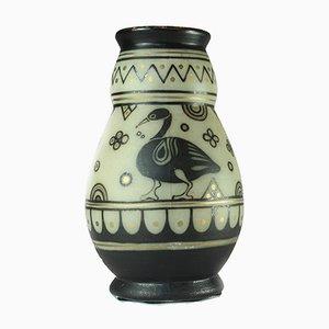 Vase en Grès par E. Lombart pour M. Renard, 1930s