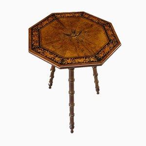 Table d'Appoint Antique Marquetée