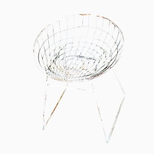 KM05 Wire Stool by Cees Braakman for Pastoe, 1950s