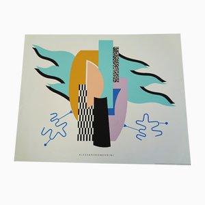 Serigrafía a color de Alessandro Mendini para Acte Iii Firenze, años 90