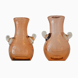 Murano Bubble Glass Vases from Seguso, 1950s, Set of 2