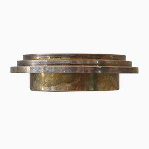 Centrotavola in metallo di Ettore Sottsass per Cleto Munari, anni '70