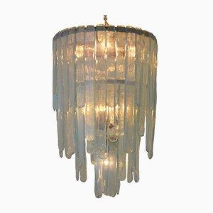 Lámpara de araña vintage de vidrio de Carlo Nason para Mazzega