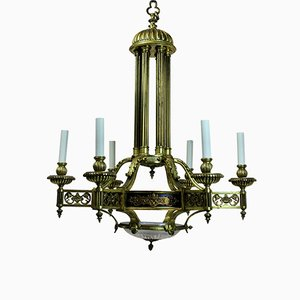 Antique French Gilt Bronze Chandelier, 1860s