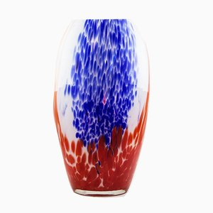 Art Deco Double-Layered Glass Vase by Henri Van Heemskerk from Scailmont