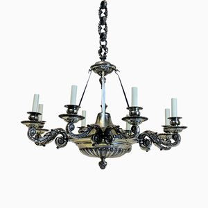 Antique English 6-Arm Chandelier, 1860s