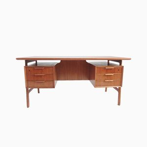 Teak Model 75 Desk from Omann Junn, 1950s