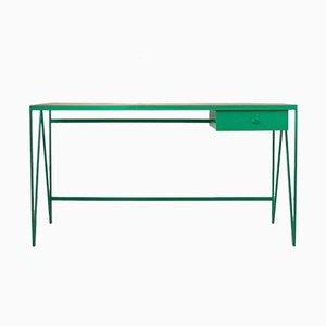 Großer Study Schreibtisch mit Platte aus wiederverwendetem Parkett und Schublade von &New